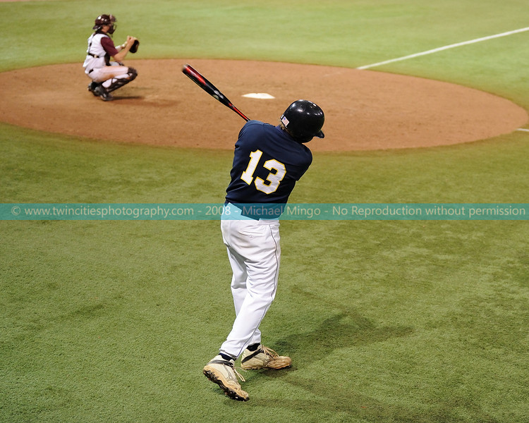 "<font size=""3"" face=""Verdana"" font color=""white"">2008 College Baseball - #13 Jay Melson</font> <font size=""2"" face=""Verdana"" font color=""#5CB3FF""> Augsburg College Auggies playing Carleton College Knights at the Metrodome in Minneapolis on April 10, 2008. </font> <br>"