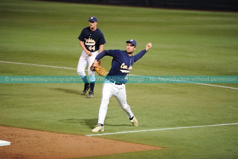 """<font size=""""3"""" face=""""Verdana"""" font color=""""white"""">2008 College Baseball - #20 Geoff King</font> <font size=""""2"""" face=""""Verdana"""" font color=""""#5CB3FF""""> Augsburg College Auggies playing Carleton College Knights at the Metrodome in Minneapolis on April 10, 2008. </font> <br>"""