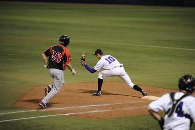 College Baseball - #10  Jeff Donovan  - UW Whitewater vs. St. Cloud State Huskies at the HHH Metrodome.