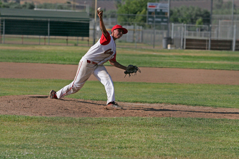 Lindsay High School pitcher throws against Corcoran on May 2, 2013.