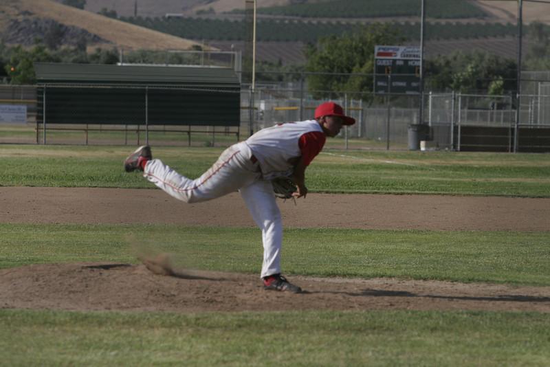 Lindsay High School pitcher Julian Gonzalez against Corcoran on May 12, 2013.