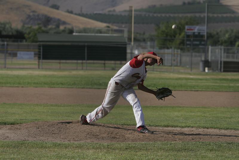Lindsay High School pitcher Julian Gonzalez threw a three hitter against Corcoran on May 2, 2013.