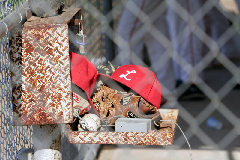 Lindsay baseball hats and gloves - 5-2-13.
