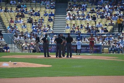 Diamond Backs at Dodgers, Top of the First, 20 April 2014