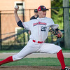 Dirt Dawgs' Riley Sorenson delivers a pitch during the game against Brockton Rox at Doyle Field on Tuesday evening. SENTINEL & ENTERPRISE / Ashley Green