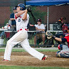 Dirt Dawgs' Ryan Solomon watches as a home run sails out of the park during the game against Brockton Rox at Doyle Field on Tuesday evening. SENTINEL & ENTERPRISE / Ashley Green
