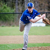 Leominster's Tyler Brandt delivers a pitch during the game against Fitchburg on Wednesday afternoon. SENTINEL & ENTERPRISE / Ashley Green