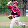 Fitchburg's Anthony Cuevas delivers a pitch against Leominster on Wednesday afternoon. SENTINEL & ENTERPRISE / Ashley Green