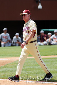 Head Coach Mike Martin walks back to the dugout at the FSU vs. Virginia Tech Baseball Game held on May 3, 2009 at Dick Howser Stadium in Tallahassee, FL.