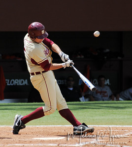 #5 Jack Posey hits the ball at the FSU vs. Virginia Tech Baseball Game held on May 3, 2009 at Dick Howser Stadium in Tallahassee, FL.