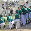 Fitchburg State University's baseball team played their final game of the regular season on Tuesday afternoon versus Nichols College. Teammates look on from the dugout as the game goes on. SENTINEL & ENTERPRISE/ ASHLEY LUCENTE
