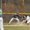 Brrendan Cutler safe into 3rd base after a wild pitch