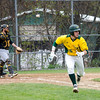 Fitchburg State's Nathan Littman grabs a single during the game against Framingham State on Thursday afternoon. SENTINEL & ENTERPRISE / Ashley Green