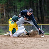 Fitchburg State's Nathan Littman slides safely into second base during the game against Framingham State on Thursday afternoon. SENTINEL & ENTERPRISE / Ashley Green
