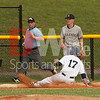 Colin Shaw (17) slides into third base on a steal.  Colin plays for the Gaithersburg Giants - Cal Ripkin League during the summer and the University of Texas - Austin during the school year.
