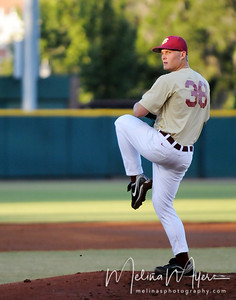 Pitcher Adam Simmons (38) prepares to pitch the ball at the annual Garnet and Gold Baseball game held on October 22, 2010 at Dick Howser Stadium.
