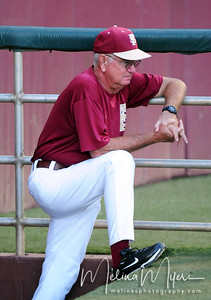 Head Coach Mike Martin watches his team during the annual Garnet and Gold Baseball game held on October 22, 2010 at Dick Howser Stadium.