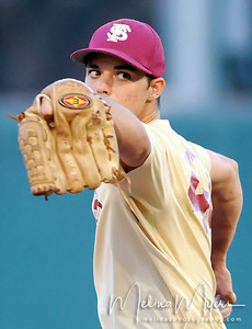 Pitcher Peter Miller (40) pitches the ball at the annual Garnet and Gold Baseball game held on October 22, 2010 at Dick Howser Stadium.