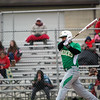 GREG KEIM | THE GOSHEN NEWS<br /> Sophomore Nick Hooley of the Northridge Raiders swings as a pitch in a NLC baseball game with the Goshen RedHawks Wednesday night at Phend Field in Goshen.