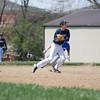 John making throw to first