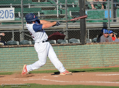 The Chico Heat play the Marysville Gold Sox in the third game of a three-game series Saturday, July 30, 2016 at Nettleton Stadium in Chico, California. (Dan Reidel -- Enterprise-Record)