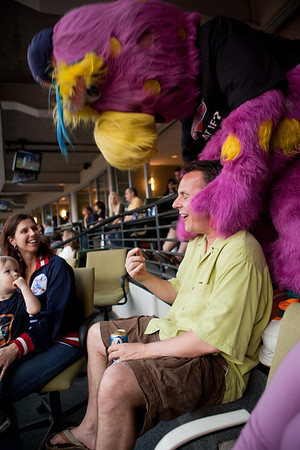 Slider pays a visit to the PD suite