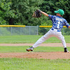The Jimmy Fund baseball Leominster American at Lunenburg on Saturday.  Leominster's Dylan Vigue winds up to deliver a pitch during action n the game. SENTINEL & ENTERPRISE/JOHN LOVE