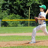The Jimmy Fund baseball Leominster American at Lunenburg on Saturday.  Lunenburg pitcher Chris Chow winds up to deliver a pitch during the game. SENTINEL & ENTERPRISE/JOHN LOVE