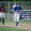 Rocco Pandiscio draws a walk during the Leominster American Legion game against East Side on Thursday evening. SENTINEL & ENTERPRISE / Ashley Green