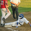 Leominster American's Dylan Vigue slides safely into third during the game against Chuck Stone on Tuesday evening. SENTINEL & ENTERPRISE / Ashley Green