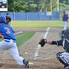 Jeremy Nash lays down a bunt for Leominster American Legion on Tuesday evening in the 6-5 loss against Cherry Valley. SENTINEL & ENTERPRISE / Ashley Green