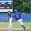Noah Milliard hits a double for Leominster American Legion on Tuesday evening in the 6-5 loss against Cherry Valley. SENTINEL & ENTERPRISE / Ashley Green