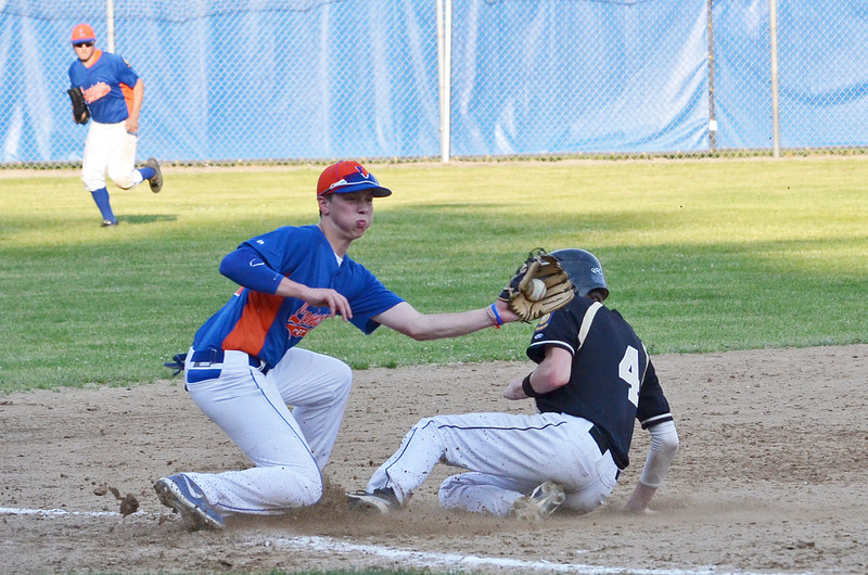 Jeremy Nash makes a play at third base for Leominster American Legion on Tuesday evening in the 6-5 loss against Cherry Valley. SENTINEL & ENTERPRISE / Ashley Green