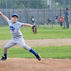Hebert Homes #6 Ashton Molzahn pitches during the Leominster American Minor League championship game at Ronnie Bachand Memorial Field on Wednesday evening. SENTINEL & ENTERPRISE / Ashley Green
