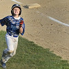 Leominster American's Sean Dutton runs for home during the game against Lunenburg on Tuesday evening. SENTINEL & ENTERPRISE / Ashley Green