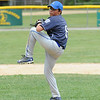 Dylan Sousa pitches for Leominster American during Sunday's Leominster Championship against Leominster American at Desantis Field.