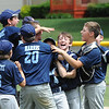 Leominster National celebrates after their victory against Leominster American during Sunday's Leominster Baseball Championship game at Desantis Field.