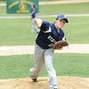 Ryan Harris pitches for Leominster National during Sunday's Leominster Baseball Championship on Sunday at Desantis Field.