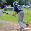 Ryan Harris hits a triple during the Leominster Little League All-Star game against Westfield on Friday night. SENTINEL & ENTERPRISE / Ashley Green