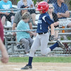 Leominster National's Colin Garrity scores a run during the Leominster Little League City Championship at Justin DeSantis Field on Wednesday night. SENTINEL & ENTERPRISE / Ashley Green