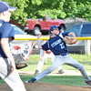 Leominster National's Aaron Forgues pitches during the Leominster Little League City Championship at Justin DeSantis Field on Wednesday night. SENTINEL & ENTERPRISE / Ashley Green