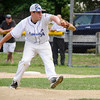 Leominster American's Bradley Albert delivers a pitch during the District 3 championship game against Leominster National on Thursday evening. SENTINEL & ENTERPRISE / Ashley Green