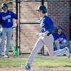 Leominster's Rocco Pandiscio scores a run during the game against Nashoba on Wednesday afternoon. SENTINEL & ENTERPRISE / Ashley Green