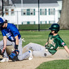 Nashoba's Alex Borsari slides safely into second under the tag of Leominster's Mateo Chacon during the game at Doyle Field on Wednesday afternoon. SENTINEL & ENTERPRISE / Ashley Green