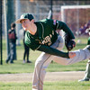 Nashoba's Ethan Sprague delivers a pitch during the game against Leominster on Wednesday afternoon. SENTINEL & ENTERPRISE / Ashley Green