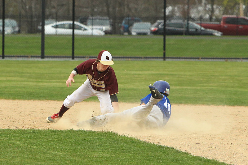 Leom Rusty Frederick slides safely into 2nd base