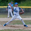 Lunenburg LL All-Star srtarting pitcher Tyler Hollifield delivers a pitch during their playoff game against Chuck Stone LL at Salevan Field in Athol. SENTINEL&ENTERPRISE / Jim Marabello