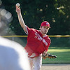 Lunenburg Phillies Paul Schubring delivers a pitch during the game against Worcester on Wednesday evening. SENTINEL & ENTERPRISE / Ashley Green