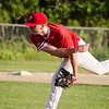 Lunenburg Phillies' Kevin O'Connor delivers a pitch during the game against Shrewsbury on Wednesday evening. SENTINEL & ENTERPRISE / Ashley Green