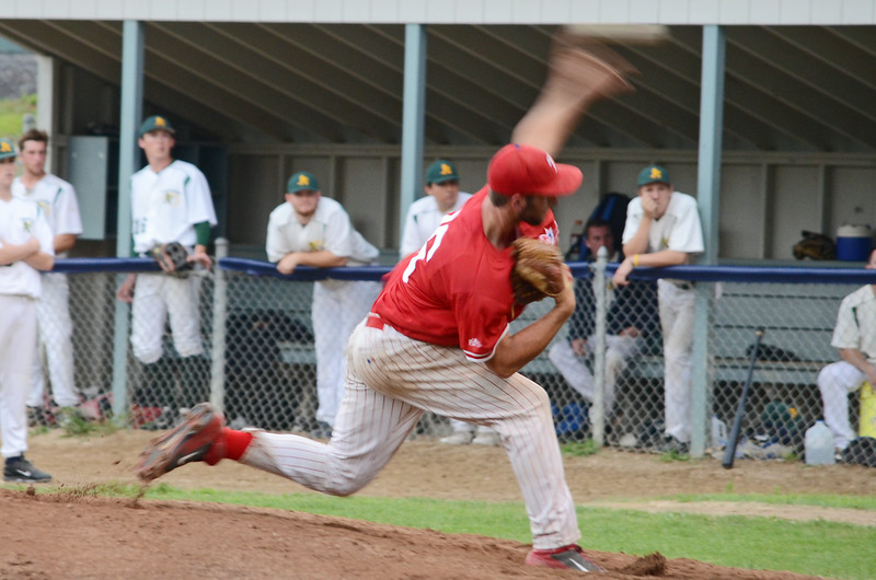 Dylan Pond took the mound as the starting pitcher as the Lunenburg Phillies faced off against the Framingham A's in the CNEBA quarterfinals on Wednesday evening. SENTINEL & ENTERPRISE / Ashley Green